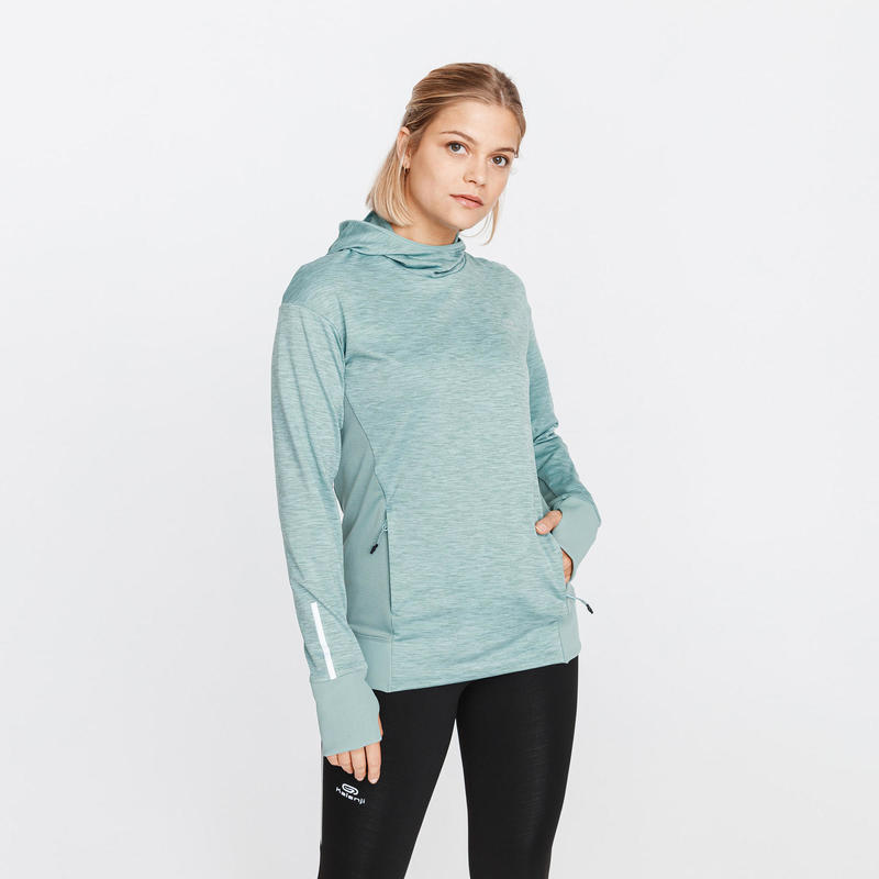 RUN WARM WOMEN'S HOODIE GREY