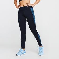 Warme hardlooptight voor dames Run Warm+ blauwzwart