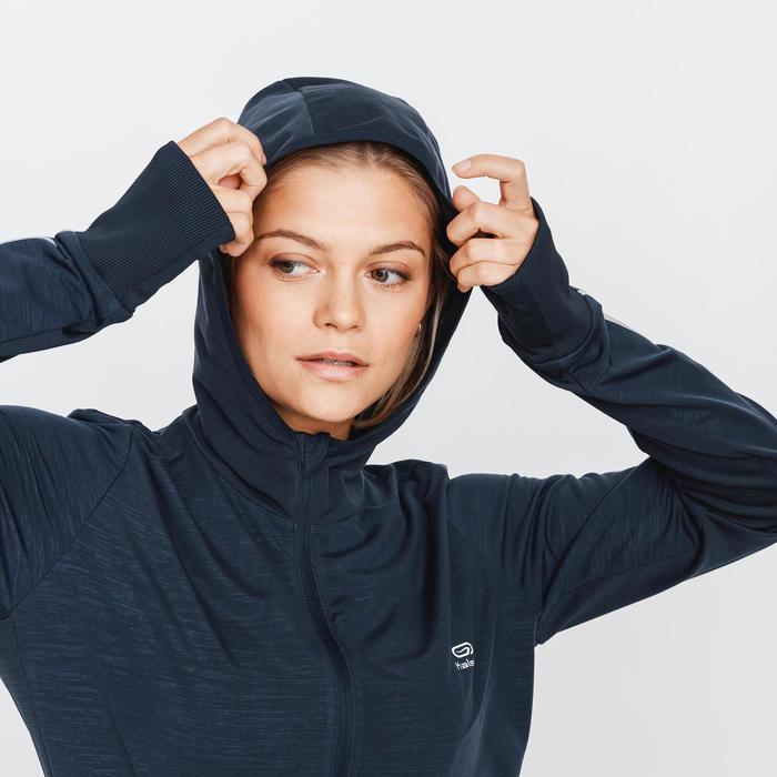 VESTE A CAPUCHE RUNNING RUN WARM GRIS ABYSSES FEMME