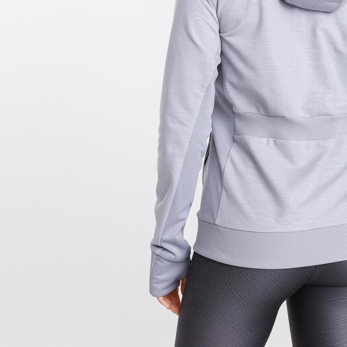 女款跑步連帽外套Run Warm - 紫色