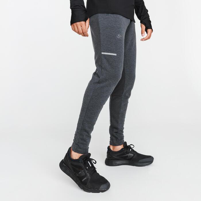 Hardloopbroek voor heren Run Warm+ grijs