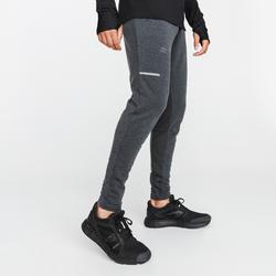 男款跑步運動褲RUN WARM+灰色