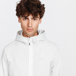 VESTE RUNNING RUN WARM + BLANC GLACIER HOMME
