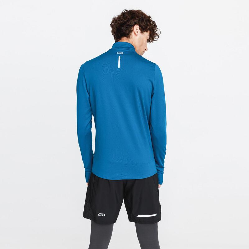 Erkek Koyu Mavi Uzun Kollu Tişört / Koşu - RUN WARM