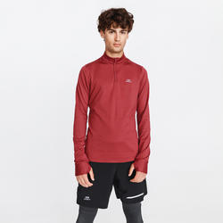 TEE SHIRT MANCHES LONGUES RUNNING RUN WARM BORDEAUX HOMME