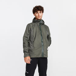 Run Rain Breath Men's Running Rain Jacket - Khaki