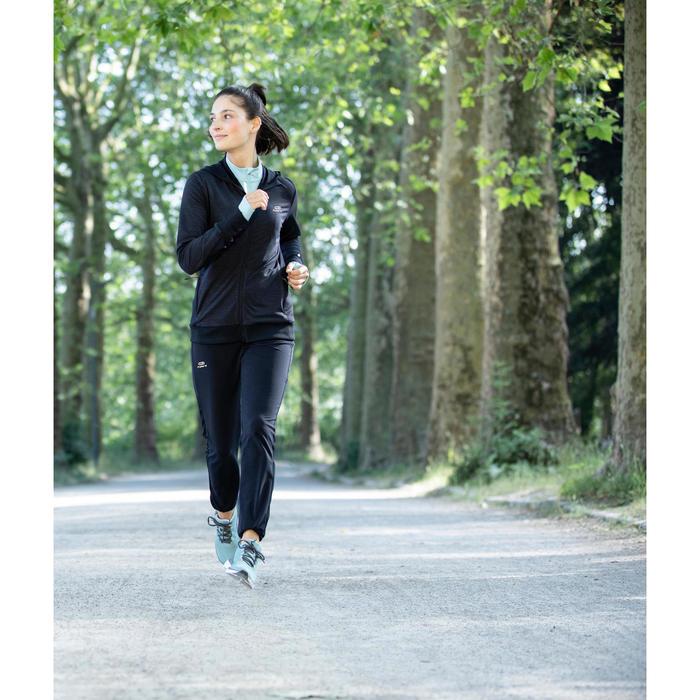 女款跑步運動褲Run Warm - 黑色