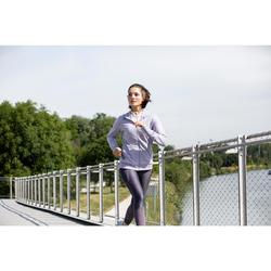 WOMEN'S RUNNING TIGHTS RUN DRY+ FEEL - PURPLE GREY
