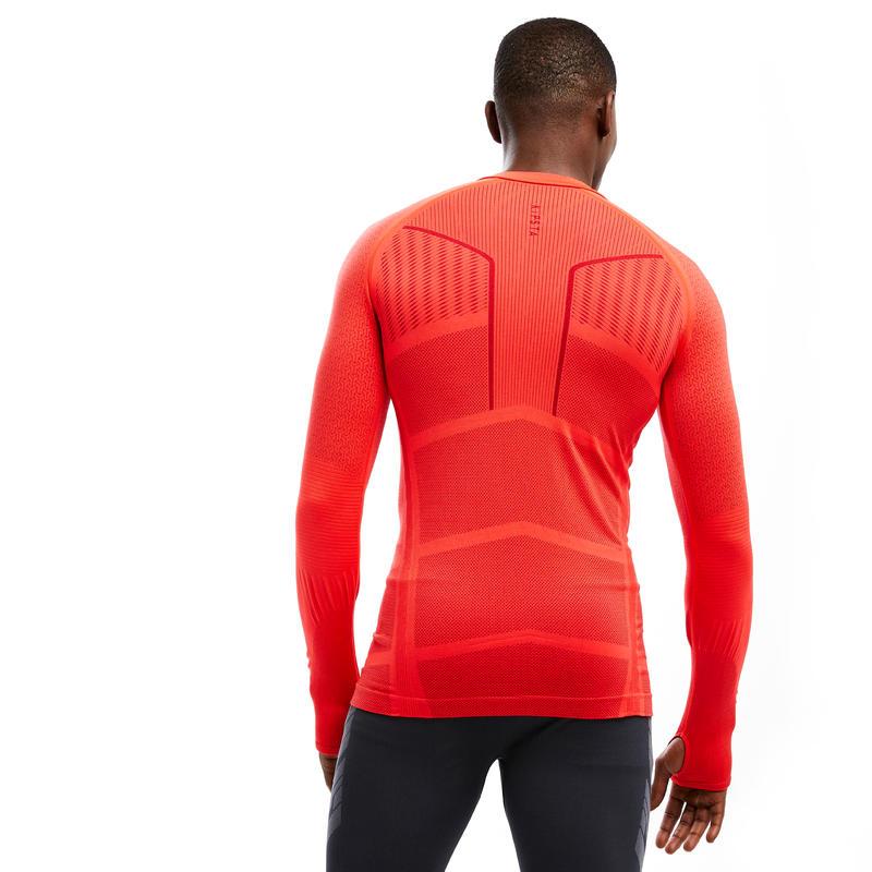 Sous-vêtement Keepdry 500 adulte manches longues football rouge vif