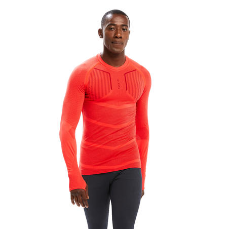 Keepdry 500 Adults' Football Long-Sleeved Base Layer - Bright Red