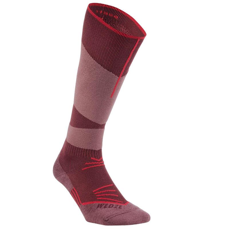 NOGAVICE ZA SMUČANJE IN DESKANJE ZA ODRASLE Naglavni dodatki, rokavice in nogavice - Smučarske nogavice 500 WEDZE - Nogavice