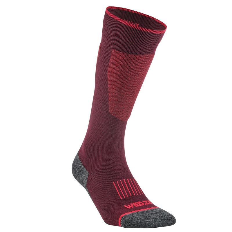 Adult Ski Socks 100 - Burgundy