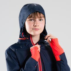 AT 500 GIRL'S ATHLETICS RAIN JACKET BLUE