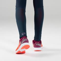 Collant d'athlétisme pour fille AT 500 bleu marine et violet