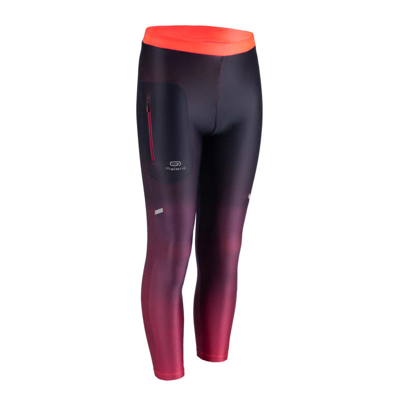 Kids' Athletics Tights AT 100 - faded neon coral