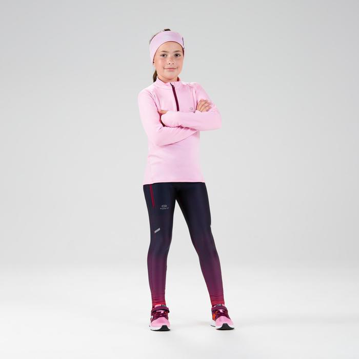 Kids' Athletics Warm ½-Zip LS Jersey AT 100 - blue pink