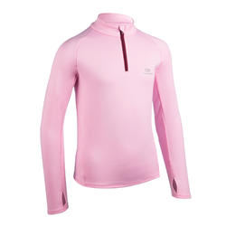 Kids' Athletics Warm ½-Zip LS Jersey AT 100 - blue pink
