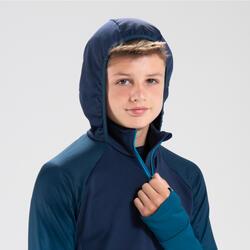 兒童款田徑長袖運動衫AT 500漸層藍