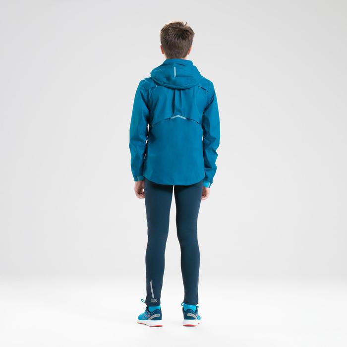 Veste de pluie enfant d'athlétisme bleu pétrole