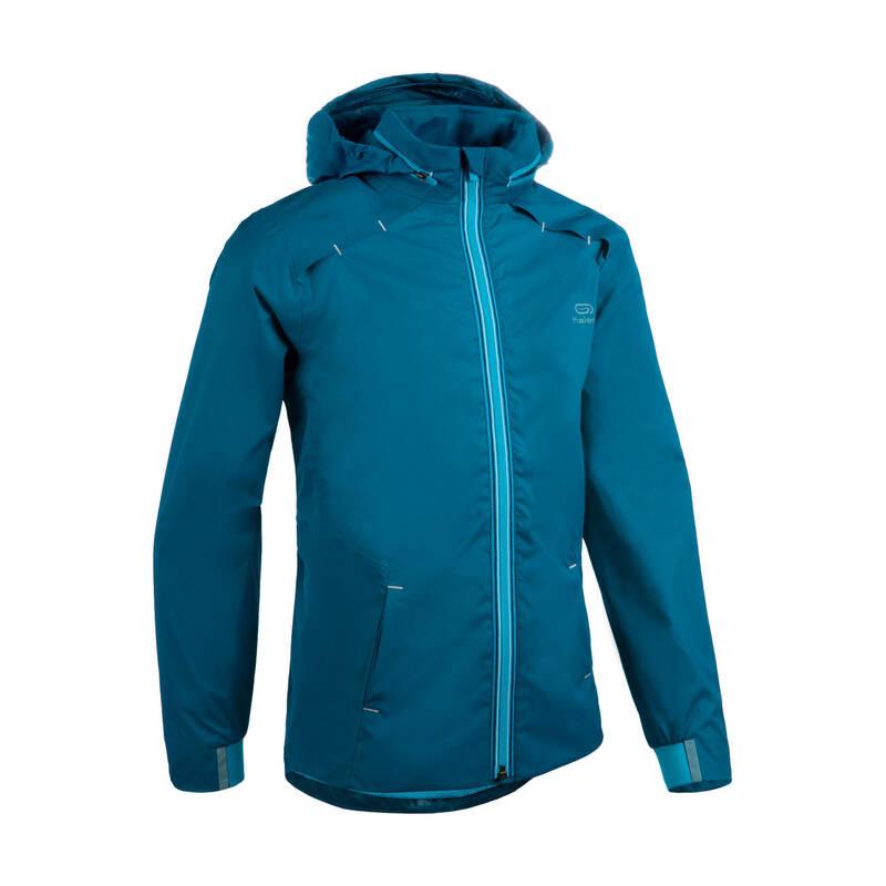DĚTSKÉ OBLEČENÍ NA ATLETIKU Běh - BUNDA AT500 MODRÁ  KALENJI - Běžecké oblečení