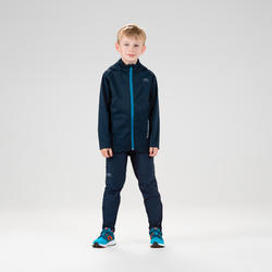 Kids' Athletics Cold Weather Trousers Kalenji - navy blue turquoise blue