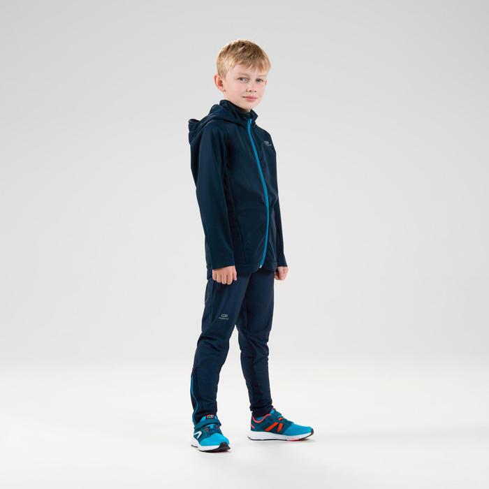 Veste chaude enfant d'athlétisme AT 500 bleue marine