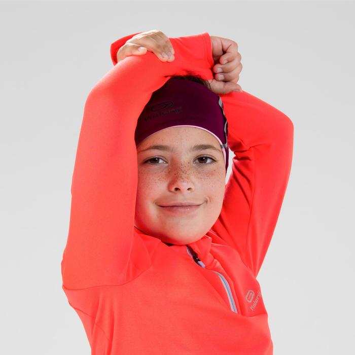 Warm atletiekshirt met lange mouwen en halve rits voor kinderen AT 100 fluorood