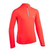 Kids' Athletics Warm ½-Zip LS Jersey AT 100 - neon coral
