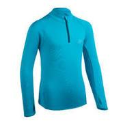 Kids' Athletics Warm ½-Zip LS Jersey AT 100 - cyan blue