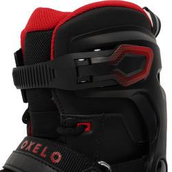 IJsschaatsen FIT500 voor volwassenen, herenmodel zwart en rood