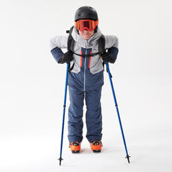 Ski-overall voor freeride met ingewerkte rugbeschermer BIB Protect 900 blauw