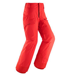 Pantalon de ski Freeski Junior FREESKI 500 ROUGE