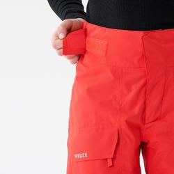 Pantalon de ski Freeski Junior FREESKI 500 ROUGE