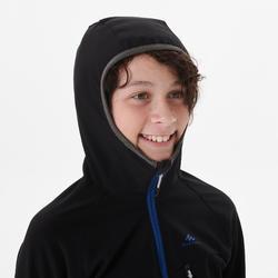 Softshell jas voor wandelen kinderen MH550 zwart 7-15 jaar