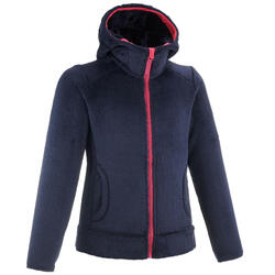 Children's age 7-15 hiking fleece SH500 - blue