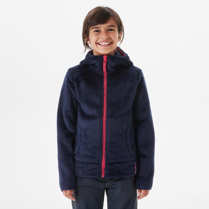 Polaire de randonnée enfant SH500 Bleu 7-15 ans