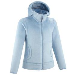 Veste polaire chaude de randonnée - MH500 Bleu gris - enfant 7-15 ans