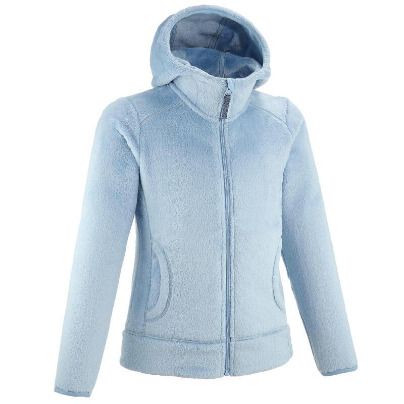 Veste polaire de randonnée - MH100 warm Bleu gris - enfant 7-15 ans