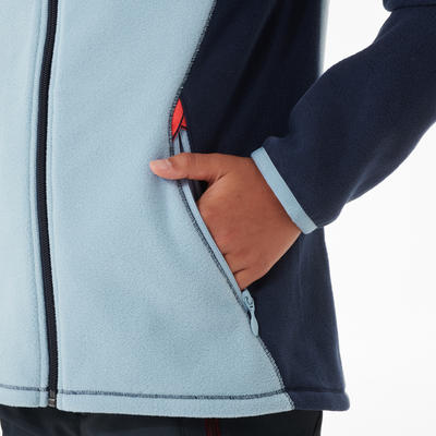Veste polaire de randonnée - MH150 bleue - enfant 7-15 ans