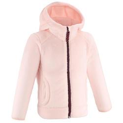 Fleece jas voor skiën en wandelen voor kinderen 2- 6 jaar MH500 roze