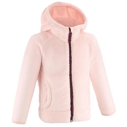 Veste polaire de randonnée - MH500 rose - enfant 2- 6 ans