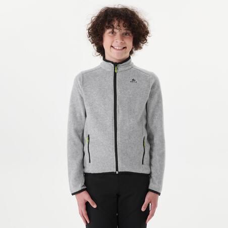 Kids' Hiking Fleece Jacket MH150 7-15 Years - Grey