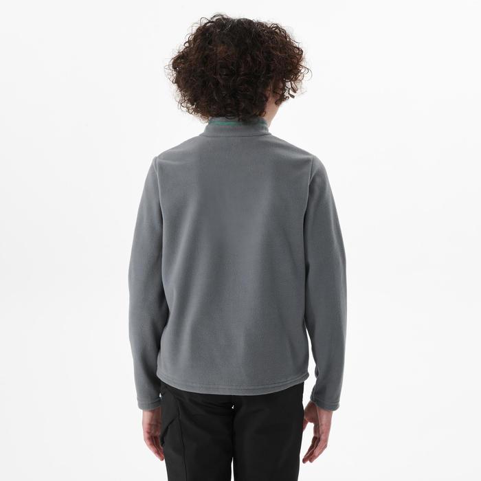 Polaire de randonnée - MH100 grise - enfant 7-15 ans