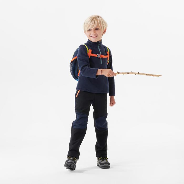 Polaire de randonnée - MH100 bleue marine - enfant 2-6 ans