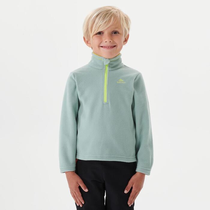 Polaire de randonnée - MH100 verte - enfant 2-6 ans