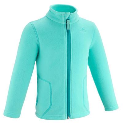 Kids' Hiking and Skiing Fleece Jacket MH150 2-6 Years - Turquoise