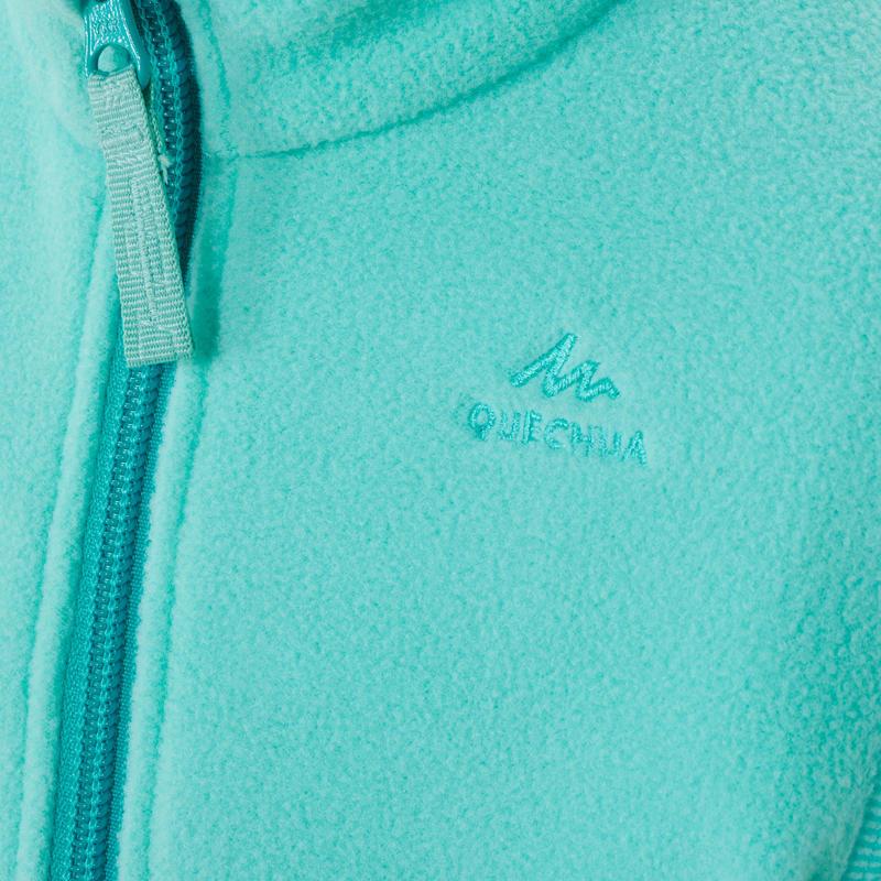 Veste polaire de randonnée et ski - MH150 turquoise- enfant 2-6 ans