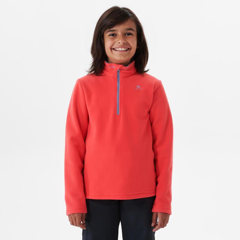 Polaire de randonnée - MH100 rose - enfant 7-15 ans