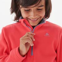 Kids' Hiking Fleece - MH100 Aged 7-15 - Pink