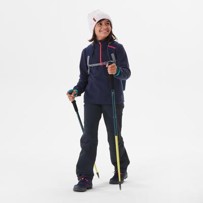 Polaire de randonnée - MH100 navy - enfant 7-15 ans